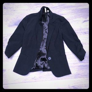 Frenchi black 3/4 sleeve  blazer- XS